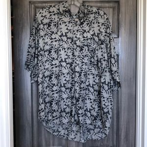 Like new silk aloha shirt